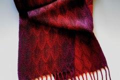 Garlington-Scarf-red-purple-feathers